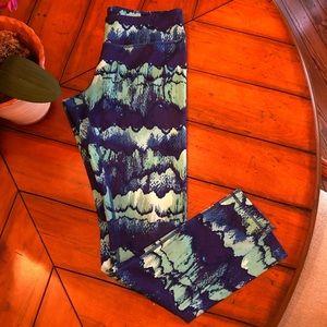 Zella Live In Leggings Purple & Aqua Print